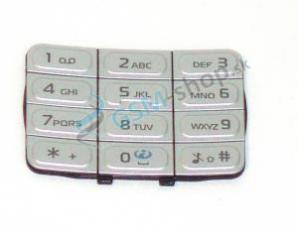Klávesnica Nokia 5200, 5300 veľká strieborná Originál