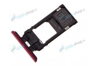 SIM a Micro SD držiak Sony Xperia 5 červený Originál
