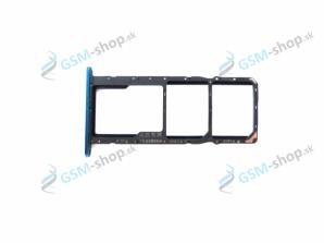 Sim a Micro SD držiak Huawei Y5 (2019) modrý Originál