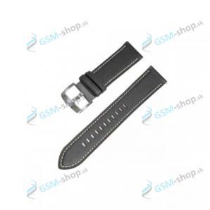Remienok Samsung Galaxy Watch 3 45 mm (R840, R845) kožený čierny Originál