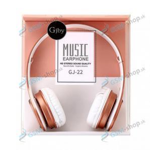 Slúchadlá GJBY GJ-22 MUSIC s mikrofónom 3,5 mm - ružové