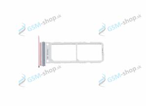 Sim držiak Samsung Galaxy Note 10 Dual N970FZ ružový Originál