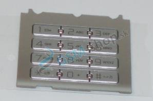 Klávesnica SonyEricsson S500i strieborná veľká Originál