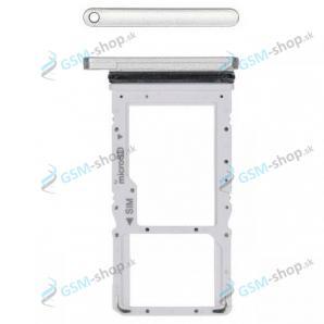 SIM a MicroSD držiak Samsung Galaxy Tab A7 10.4 LTE (T505) strieborný Originál