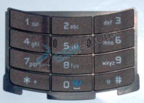 Klávesnica Nokia N80 veľká hnedá Originál