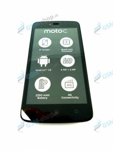 LCD Lenovo Moto C LTE (XT1754) a dotyk čierny s krytom Originál