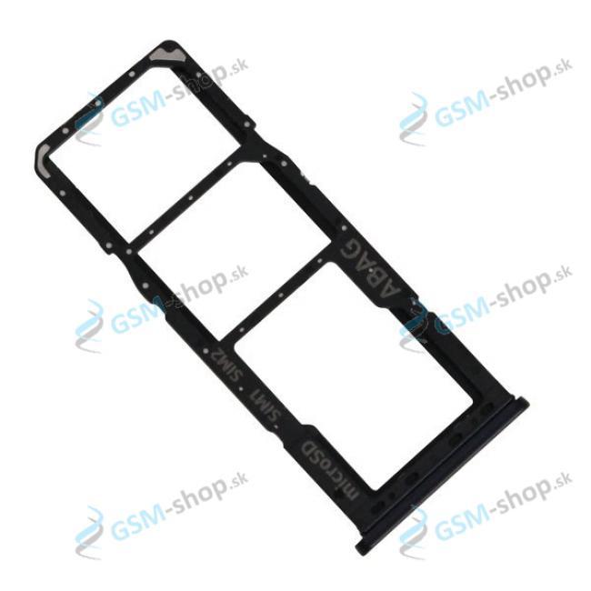 SIM a SD držiak Samsung Galaxy A21s (A217) čierny Originál