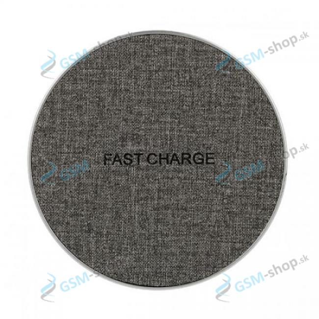 Bezdrôtová nabíjačka rýchlo nabíjacia sivá