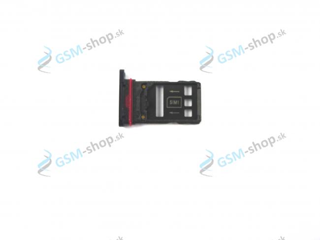 Sim a Micro SD držiak Huawei Mate 20 Pro čierny Originál