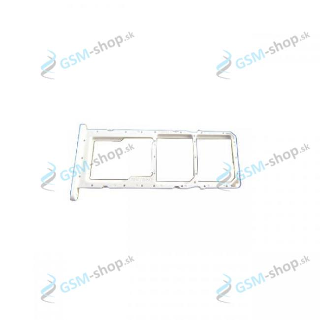 Dual SIM držiak Samsung Galaxy A02s (A025) biely Originál