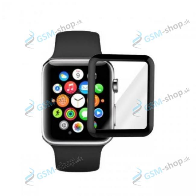 Tvrdené sklo Apple Watch 1,2,3 - 38 mm 5D čierne