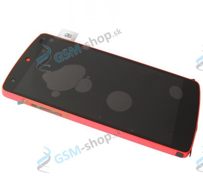 LCD LG D821 Nexus 5 a dotyková plocha s krytom červeným Originál