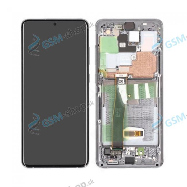 LCD Samsung Galaxy S20 Ultra G988 a dotyk s krytom šedým Originál