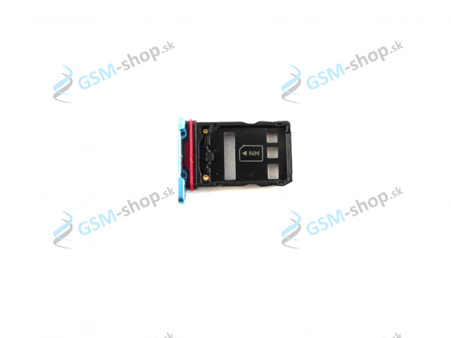Sim a Micro SD držiak Huawei P30 Pro modrý Originál