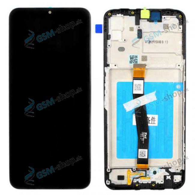 LCD displej Samsung Galaxy A22 5G (A226B) a dotyk čierny s krytom Originál