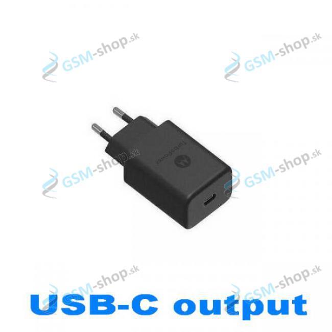 USB-C adaptér do siete Motorola SC-32 (27W) Originál čierny