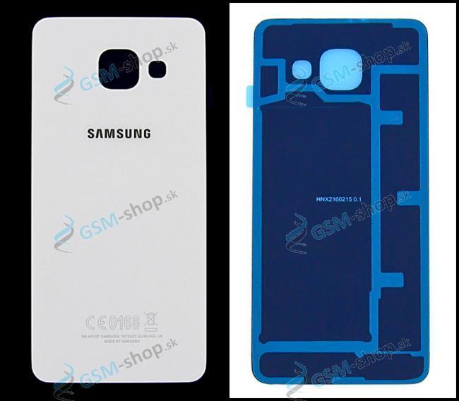 Kryt Samsung A310F Galaxy A3 (2016) batérie biely Originál