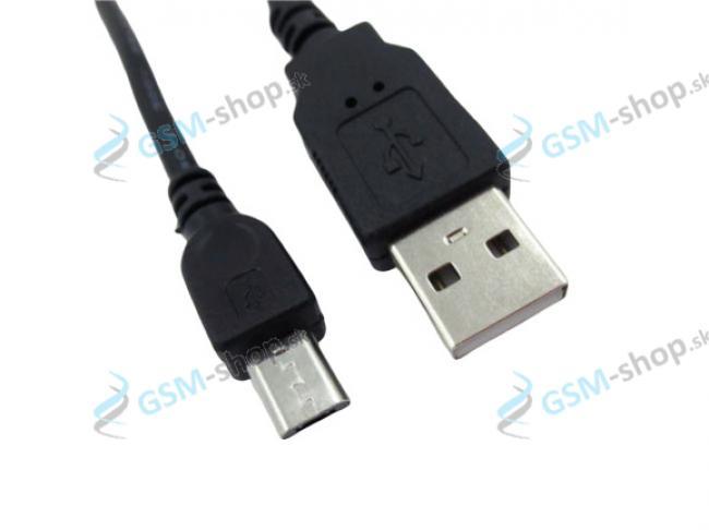 Dátový kábel microUSB s predĺženým konektorom čierny