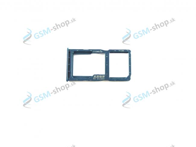 Sim a Micro SD držiak Huawei P30 Lite modrý Originál