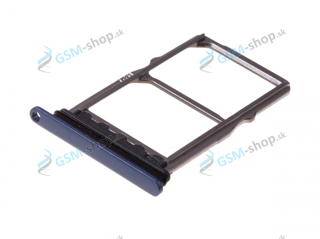 Sim a Micro SD držiak Huawei Mate 20 modrý Originál