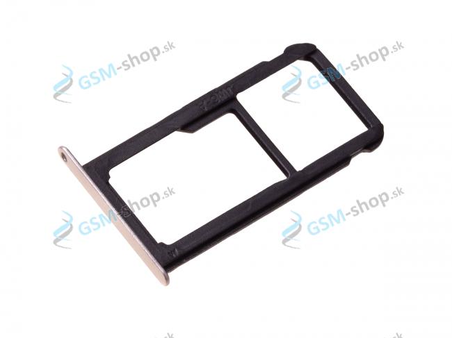 Sim a Micro SD držiak Huawei P10 Lite zlatý Originál