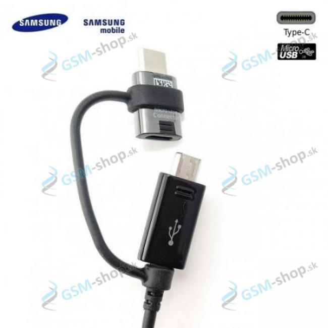 Datakábel Samsung microUSB a USB-C neblister čierny Originál