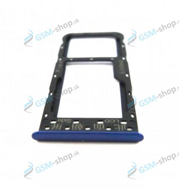 Sim a Micro SD držiak Huawei P Smart modrý Originál