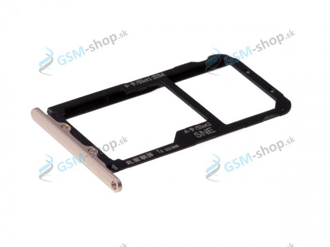 Sim a Micro SD držiak Huawei Mate 20 Lite zlatý Originál