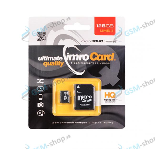Pamäťová karta IMRO MicroSD 128 GB SDHC UHS-I CLASS 10