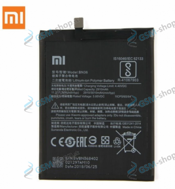 Batéria Xiaomi BN36 pre Xiaomi Mi A2 Originál