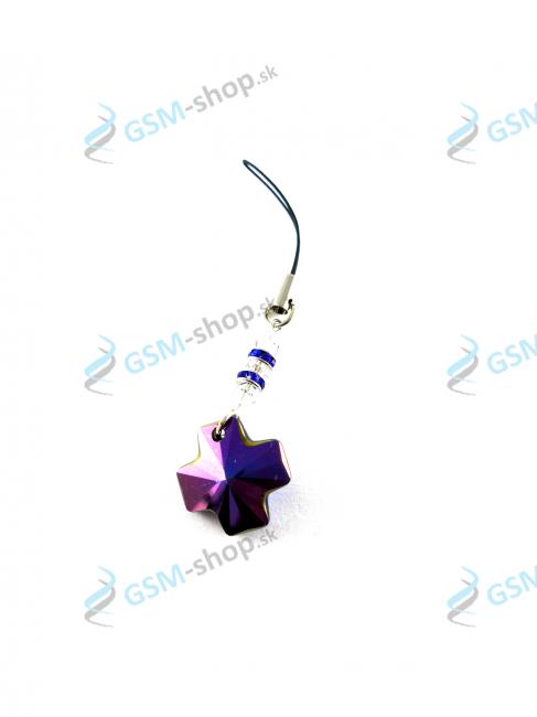 Prívesok Crystal Cross - fialový Heliotrope