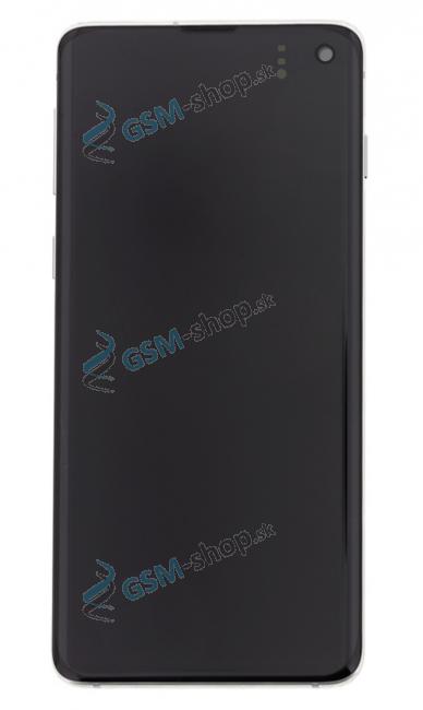 LCD Samsung Galaxy S10 G973 a dotyk s krytom bielym Originál