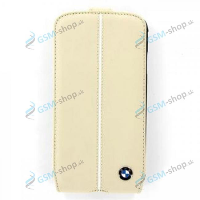 Púzdro BMW FLIP Samsung Galaxy S4 (i9505) krémové