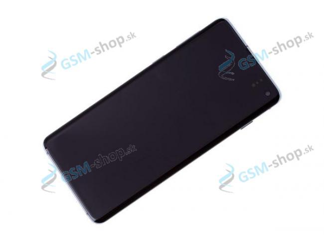 LCD Samsung Galaxy S10 (G973) a dotyk s krytom modrým Originál