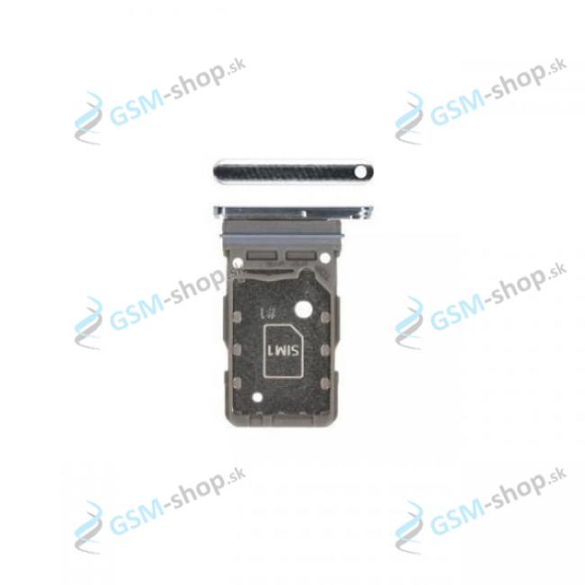 Dual SIM držiak Samsung Galaxy S21 5G (G991B) biely Originál