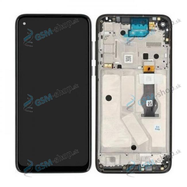 LCD displej Motorola Moto G8 Power (XT2041) a dotyk čierny s krytom Originál