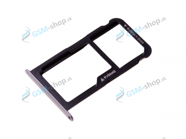 Sim a Micro SD držiak Huawei P10 Lite čierny Originál