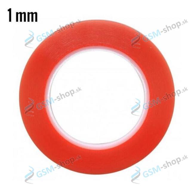 Obojstranná lepiaca páska MAGIC RED 1 mm priehľadná