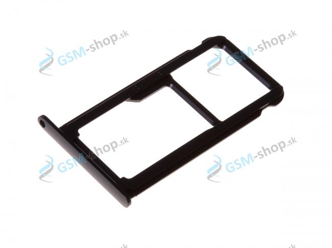 Sim a Micro SD držiak Huawei P10 čierny Originál