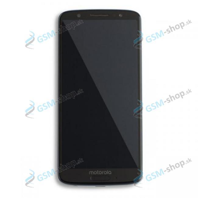 LCD Lenovo Moto G6 a dotyk modrý s krytom Originál
