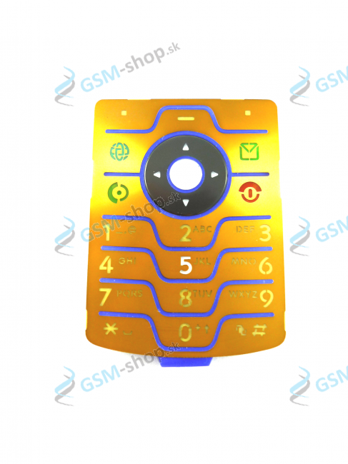 Klávesnica Motorola V3i DG zlatá Originál