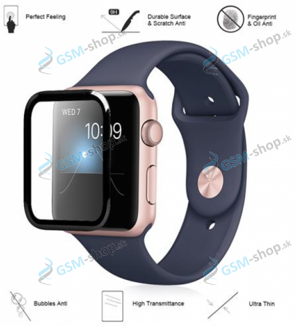 Tvrdené sklo Apple Watch 4 40 mm 3D čierne
