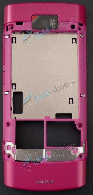Stred Nokia X3-02 zadný ružový
