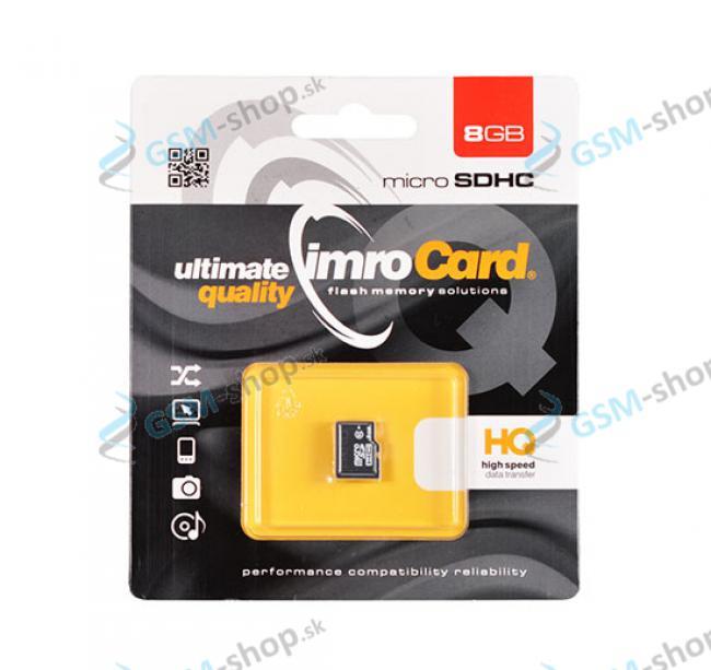 Pamäťová karta IMRO MicroSD 8 GB SDHC trieda 10